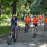 С велосипеди в парка