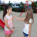 На детската площадка