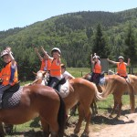 Horse riding in children camp | LuckyKids