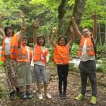 Дети из лагеря LuckyKids 2017 в лесу | LuckyKids
