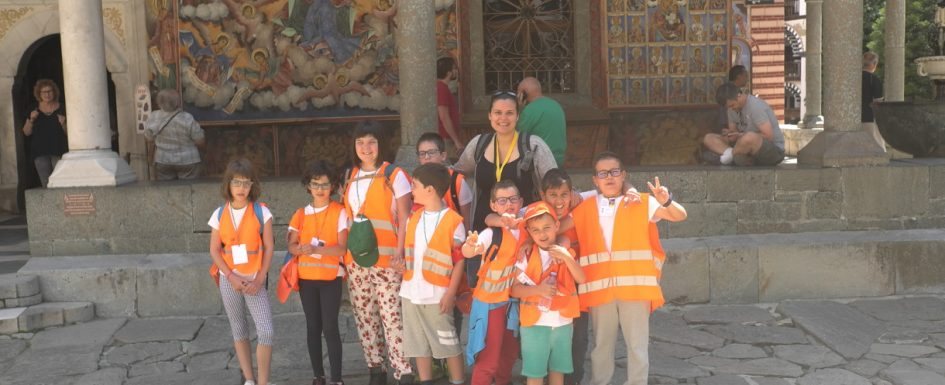 Picture of children in Rila Monastery | Lucky Kids