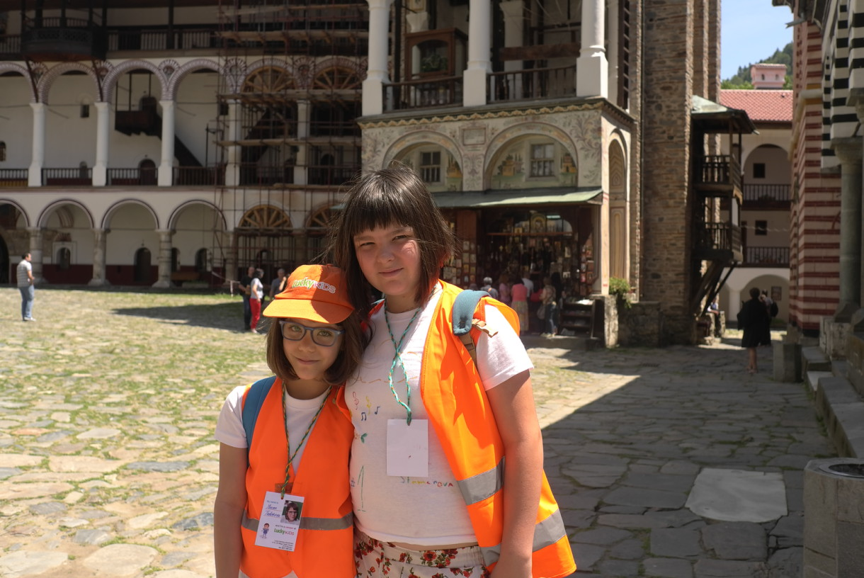 Happy smiles in the Rila Monastery | Lucky Kids