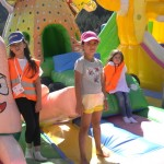 Inflatable castles in a children's camp | Lucky Kids