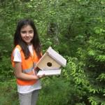 Ребенок сделал дом для птиц | Lucky Kids