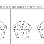 English tests cupcake drawings | Lucky Kids