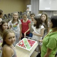 How do children celebrate their birthday if it is during the camp?