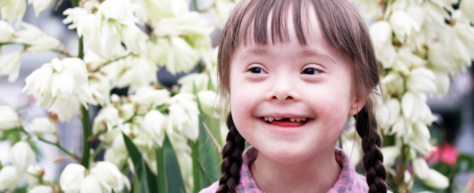 Момиче със синдром на Даун