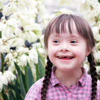 A girl with Down syndrome